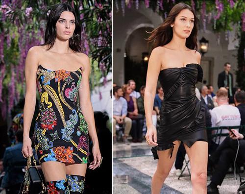Kendall Bella 1 Bella Hadid e Kendall Jenner incantano sulla passerella di Versace
