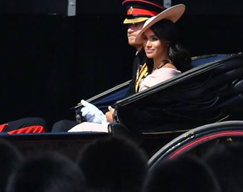 Meghan Markle 1 Kate e Meghan al Trooping The Colours 2018
