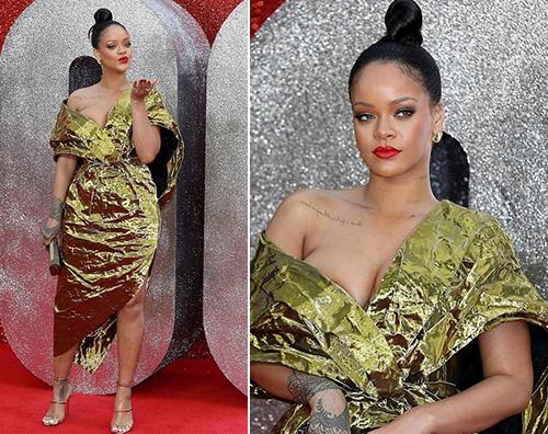 Rihanna 1 Rihanna è scintillante a Londra