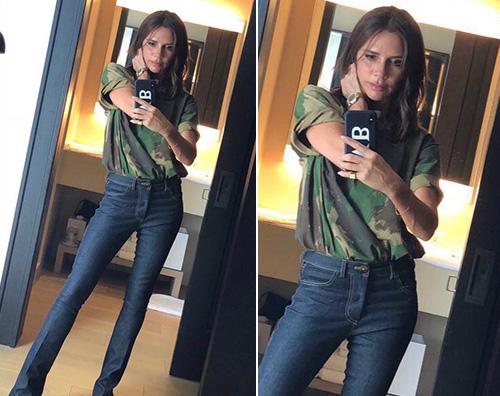 Victoria Beckham 2 Victoria Beckham, outfit casual su Instagram