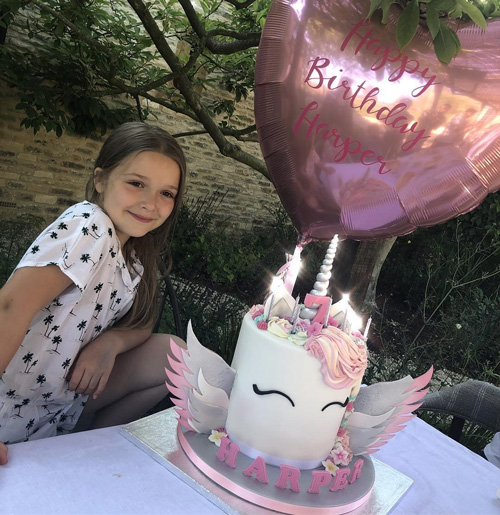 Harper Seven 1 Victoria e David festeggiano il compleanno di Harper