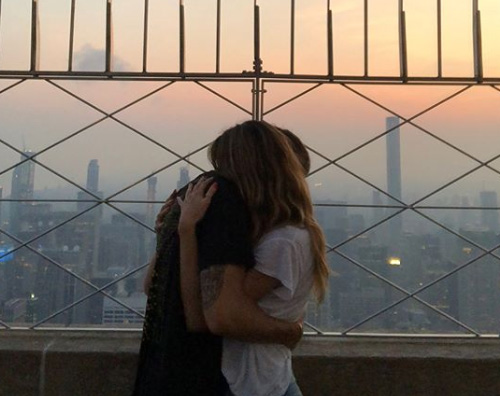 Heidi Klum Heidi Klum e Tom Kaulitz, due innamorati sull'Empire State Building