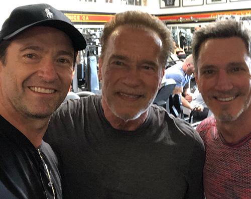 Hugh Jackman Hugh Jackman a lezione da Arnold Schwarzenegger