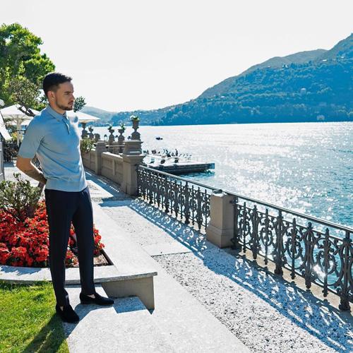 Liam Payne Liam Payne sul Lago di Como per Dolce e Gabbana