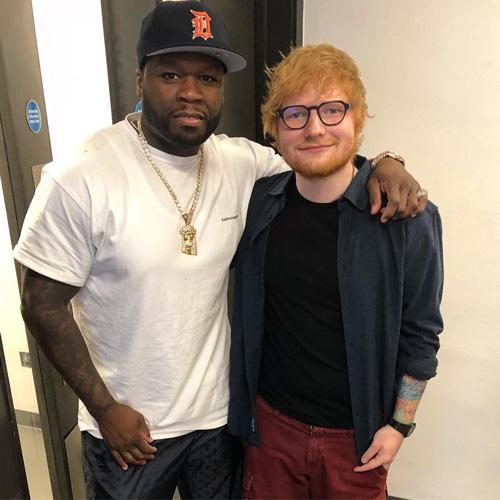 ed sheeran 50 cent Il selfie leggendario di Eminem, Ed Sheeran e 50 Cent