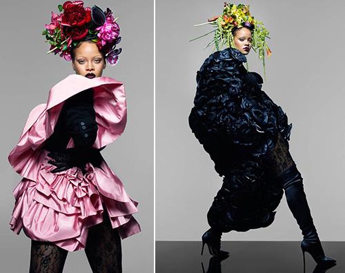 Rihanna Sopracciglia Sottili 1 Rihanna sfoggia sopracciglia sottili su British Vogue