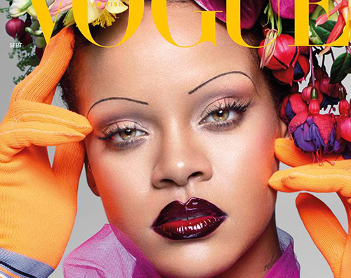 Rihanna Sopracciglia Sottili British Vogue The Gossipers