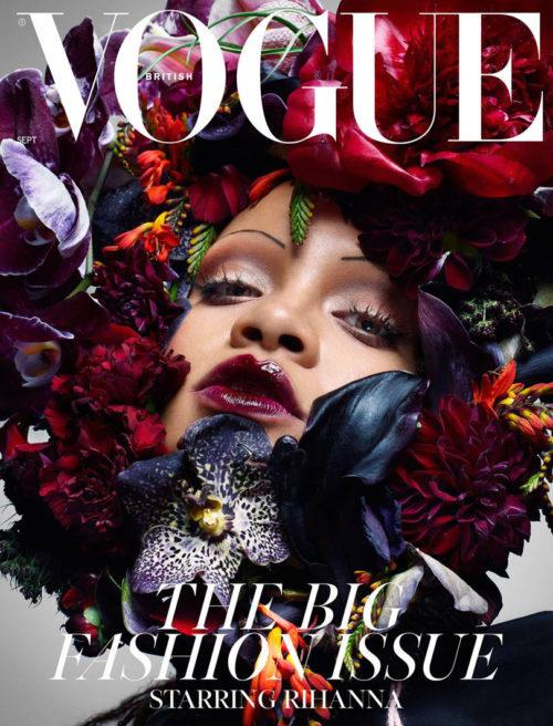 rihanna sopracciglia sottili 3 500x656 Rihanna sfoggia sopracciglia sottili su British Vogue