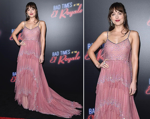 "Dakota Johnson Dakota Johnson presenta ""7 Sconosciuti a El Royale"" a Los Angeles"