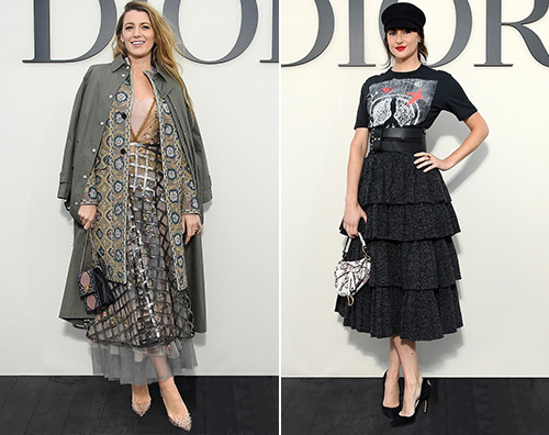 Dior 2 Blake Lively e Shailene Woodley alla sfilata di Dior