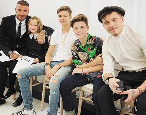 Famiglia Beckham La famiglia Beckham a Londra per la sfilata di Victoria