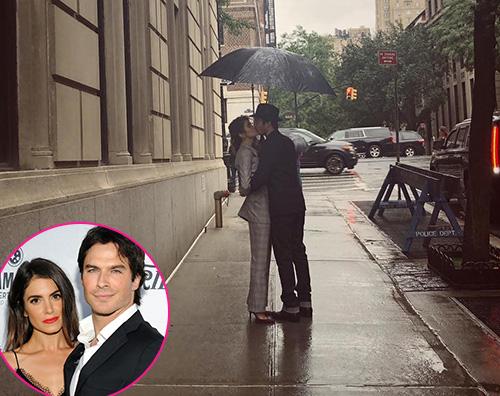 Ian Nikki Ian Somerhalder e Nikki Reed, bacio sotto la pioggia