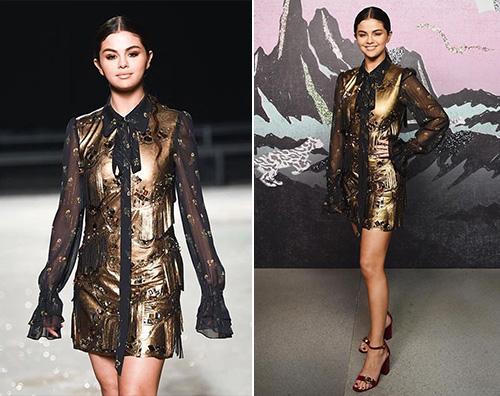 Selena Gomez Selena Gomez è gold alla sfilata Coach