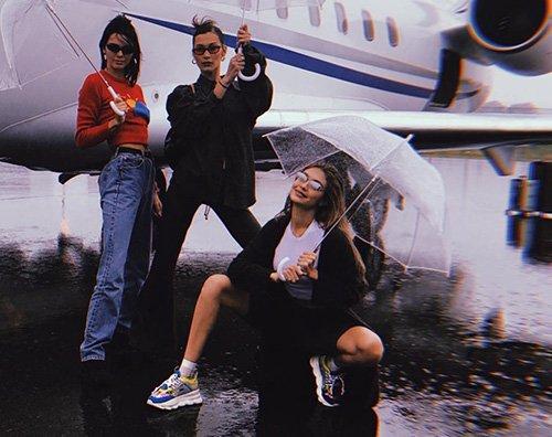 Bella Gigi Kendall Gigi, Bella e Kendall salutano Milano