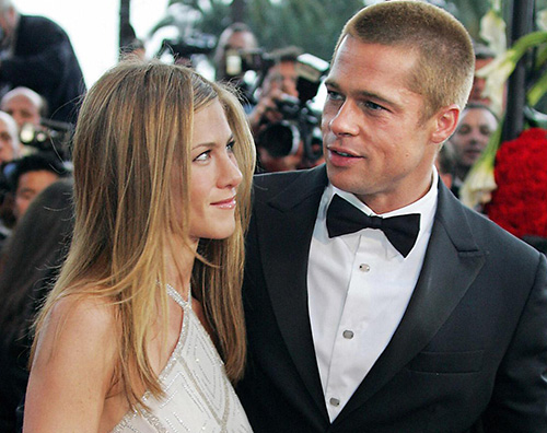 Jennifer Aniston Brad Pitt Brad Pitt al party per i 50 anni di Jennifer Aniston