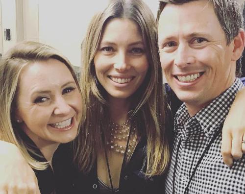 Jessica Biel Jessica Biel e Beverley Mitchell si incontrano al concerto di Justin Timberlake
