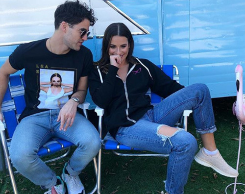 Lea Michele Darren Criss Lea Michele e Darren Criss si preparano alla nuova fase del tour