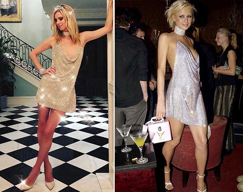 Paris vs nicky Nicky Hilton copia il look di Paris per Halloween