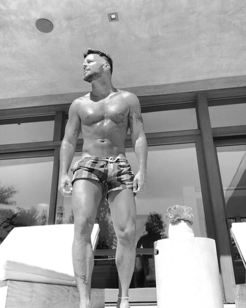 Ricky Martin Ricky Martin in costume su Instagram