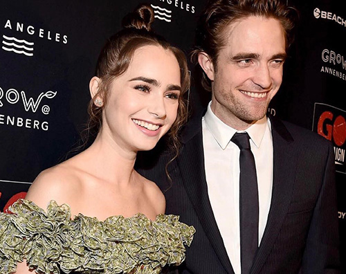 """Robert Pattison Lily Collins 1 Robert Pattinson e Lily Collins ambasciatori per il """"Go Campaign Gala"""""""
