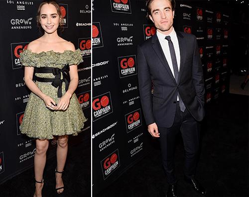 """Robert Pattison Lily Collins 2 Robert Pattinson e Lily Collins ambasciatori per il """"Go Campaign Gala"""""""