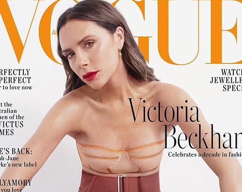 Victoria Beckham Victoria Beckham conquista la cover di Vogue Australia