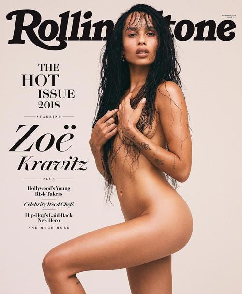 Zoe Kravitz Zoe Kravitz come mamma Lisa sulla cover di Rolling Stone