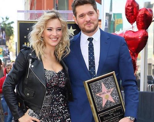 Buble Michael Bublè festeggia la sua stella sulla Walk Of Fame