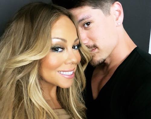 Mariah Carey Mariah Carey felice col suo Bryan