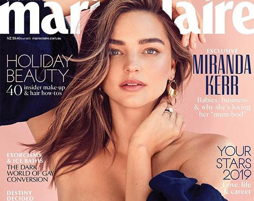 Miranda Kerr 1 Miranda Kerr è sulla cover di Marie Claire Australia