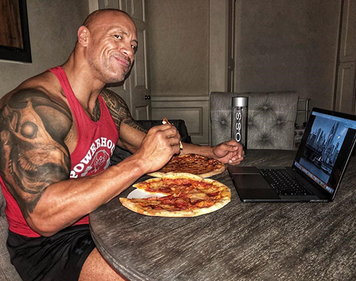 The Rock The Rock, due pizze per tenersi in forma