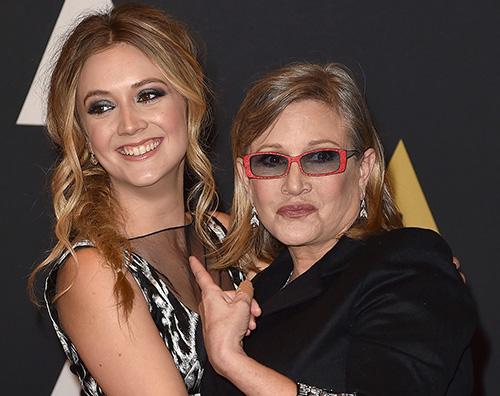 Billie Lourd Billie Lourd ricorda sua madre Carrie Fisher su Instagram