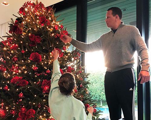 Jennifer Lopez Jennifer Lopez e Alex Rodriguez hanno fatto l'albero di Natale