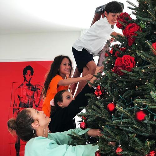 JlO Jennifer Lopez e Alex Rodriguez hanno fatto l'albero di Natale
