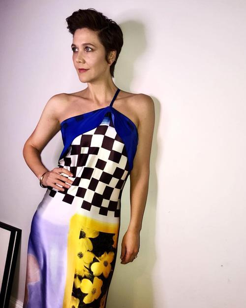 Maggie Gyllenhall 1 Maggie Gyllenhaal, look anni 80 su Instagram
