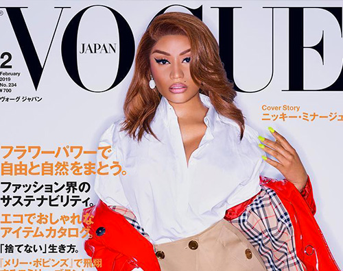 Nicki Minaj 1 Nicki Minaj è la star di Vogue Japan
