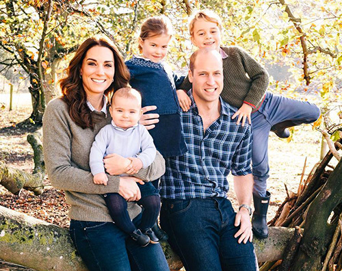 William e Kate William e Kate: la card di Natale con i bambini