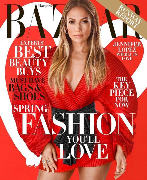 Jennifer Lopez Jennifer Lopez in rosso su Harpers Bazaar