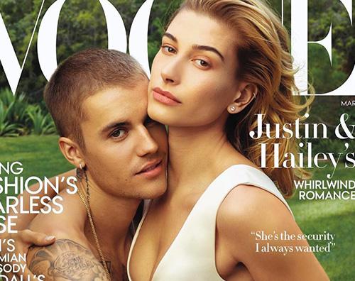 Justin Bieber torna in copertina su Vogue US, insieme a Hailey Baldwin