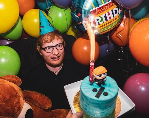 Ed Sheeran Ed Sheeran festeggia in Brasile il suo compleanno