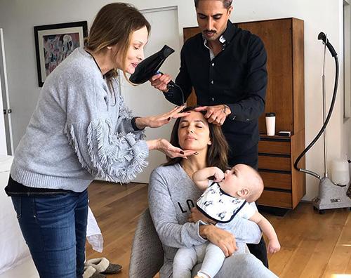 Eva Longoria Eva Longoria, trucco e parrucco con Santiago