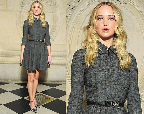 Jennifer Lawrence Jennifer Lawrence alla sfilata di Dior