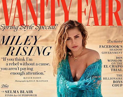 Miley Cover Miley Cyurs conquista la cover di Vanity Fair