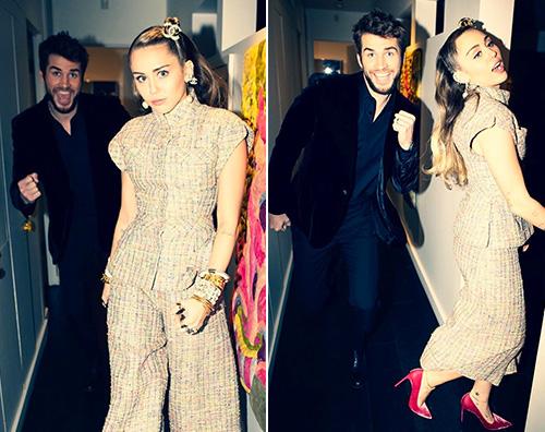 Miley Cyrus 1 Miley e Liam insieme alla festa pre Oscar di Chanel