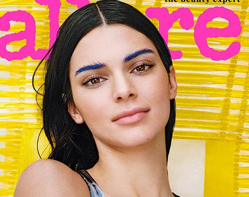 kendall cover Kendall Jenner, sopracciglia blu sulla cover di Allure