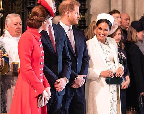 Kate Meghan Kate e Meghan alla messa del Commonwealth Day