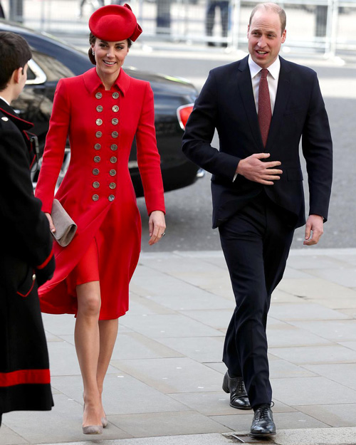 Kate Middleton Kate e Meghan alla messa del Commonwealth Day