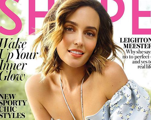 Leighton Cover Leighton Meester porta la primavera sulla cover di Shape