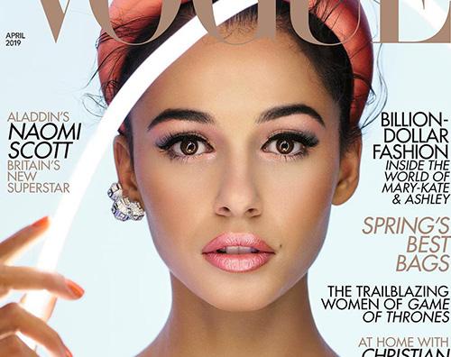 Naomi Scott Naomi Scott è sulla cover di British Vogue