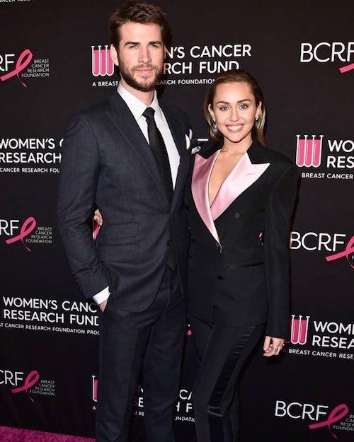 liam miley Miley e Liam red carpet di coppia contro il cancro al seno